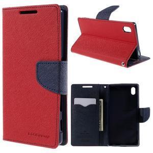 Mercur peněženkové pouzdro na Sony Xperia Z5 - červené - 1