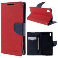 Mercur peněženkové pouzdro na Sony Xperia Z5 - červené - 1/7
