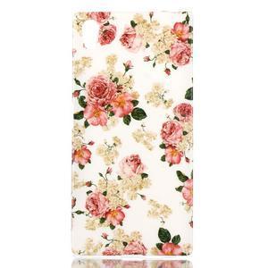 Softy gélový obal pre mobil Sony Xperia Z5 - kvetiny - 1