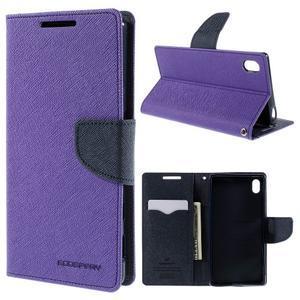 Mercur peněženkové pouzdro na Sony Xperia Z5 - fialové - 1