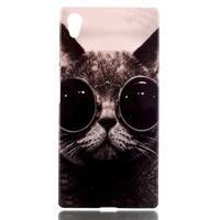 Softy gélový obal pre mobil Sony Xperia Z5 - cool kočká - 1/3