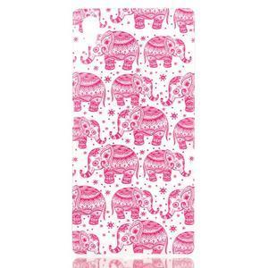 Softy gelový obal na mobil Sony Xperia Z5 - růžoví - 1