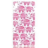 Softy gelový obal na mobil Sony Xperia Z5 - růžoví - 1/3