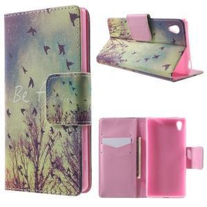 Lovely puzdro pre mobil Sony Xperia Z5 - vtáčiky - 1
