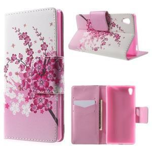 Lovely puzdro pre mobil Sony Xperia Z5 - kvitnúce vetvička - 1
