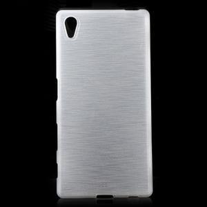 Brush lesklý gélový obal pre Sony Xperia Z5 - biely - 1