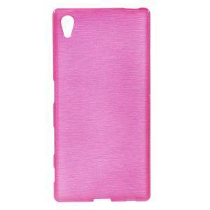 Brush lesklý gelový obal na Sony Xperia Z5 - rose - 1