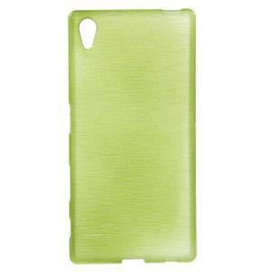 Brush lesklý gélový obal pre Sony Xperia Z5 - zelený - 1