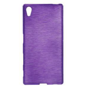 Brush lesklý gelový obal na Sony Xperia Z5 - fialový - 1