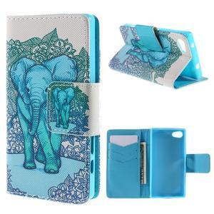 Diary Peňaženkové puzdro pre Sony Xperia Z5 Compact - slon - 1