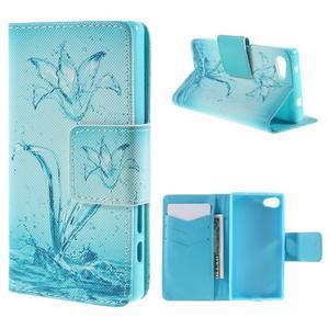 Diary Peňaženkové puzdro pre Sony Xperia Z5 Compact - vodní kvet - 1