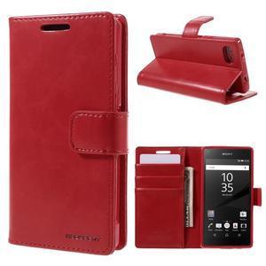 Bluemoon PU kožené puzdro pre Sony Xperia Z5 Compact - červené - 1