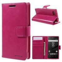 Bluemoon PU kožené pouzdro na Sony Xperia Z5 Compact - rose - 1/7