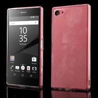 Ultratenký gelový obal na mobil Sony Xperia Z5 Compact - transparentní - 1/5