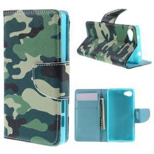 Wally Peňaženkové puzdro pre Sony Xperia Z5 Compact - kamufláž - 1