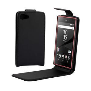 Flipové puzdro pre Sony Xperia Z5 Compact - čierne - 1