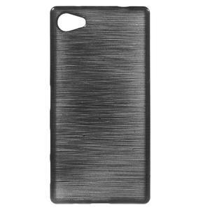 Brush gelový obal na Sony Xperia Z5 Compact - černý - 1