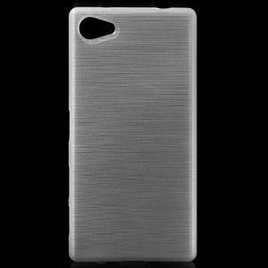 Brush gélový obal pre Sony Xperia Z5 Compact - biely - 1