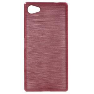 Brush gélový obal pre Sony Xperia Z5 Compact - ružový - 1