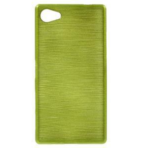 Brush gelový obal na Sony Xperia Z5 Compact - zelený - 1
