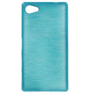 Brush gélový obal pre Sony Xperia Z5 Compact - modrý - 1