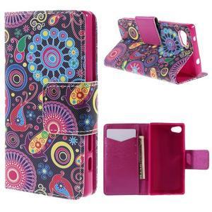 Diary peněženkové pouzdro na Sony Xperia Z5 Compact - flower - 1