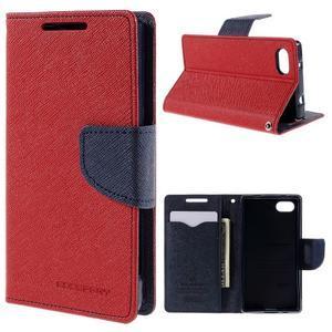Fancy PU kožené puzdro pre Sony Xperia Z5 Compact - červené - 1