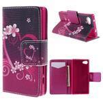 Diary Peňaženkové puzdro pre Sony Xperia Z5 Compact - srdce - 1/7