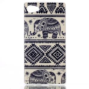 Sally gélový obal pre Sony Xperia Z5 Compact - slony - 1