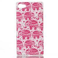 Sally gélový obal pre Sony Xperia Z5 Compact - ružoví slony - 1/3