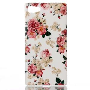 Sally gélový obal pre Sony Xperia Z5 Compact - kvetiny - 1