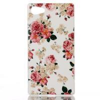 Sally gélový obal pre Sony Xperia Z5 Compact - kvetiny - 1/3