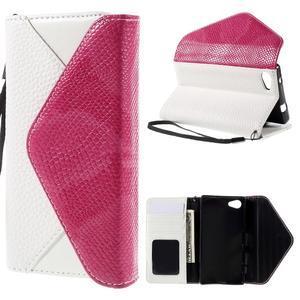Štýlové Peňaženkové puzdro pre Sony Xperia Z5 Compact - rose - 1