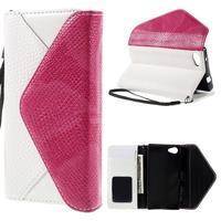 Štýlové Peňaženkové puzdro pre Sony Xperia Z5 Compact - rose - 1/7