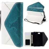 Štýlové Peňaženkové puzdro pre Sony Xperia Z5 Compact - modré - 1/7