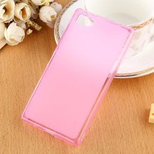 Double matný gelový obal na Sony Xperia Z5 Compact - rose - 1