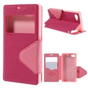 Puzdro s okýnkem na Sony Xperia Z5 Compact - rose - 1