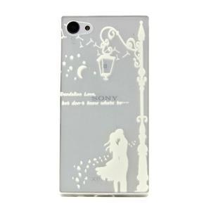 transparentné gélový obal pre Sony Xperia Z5 Compact - láska pod lampou - 1