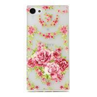 Transparentní gelový obal na Sony Xperia Z5 Compact - elegantní květiny - 1/3