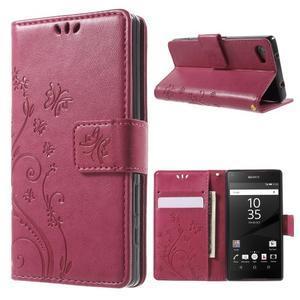 Butterfly Peňaženkové puzdro pre Sony Xperia Z5 Compact - rose - 1