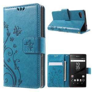 Butterfly peněženkové pouzdro na Sony Xperia Z5 Compact - modré - 1