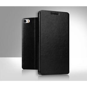 Černé PU kožené poudro na mobil Xiaomi Mi Note - 1