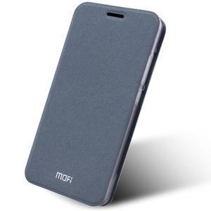 Klopové PU kožené puzdro pre Xiaomi Mi5 - sivé - 1