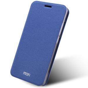 Klopové PU kožené pouzdro na Xiaomi Mi5 - modré - 1
