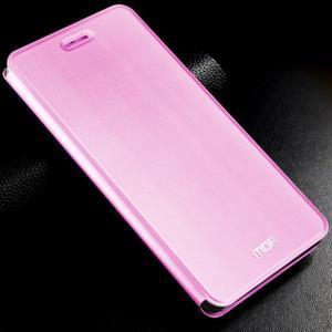 Vintage stylové PU kožené pouzdro na mobil Xiaomi Mi5 - růžové - 1