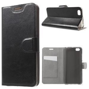 Horse peňaženkové puzdro pre mobil Xiaomi Mi5 - čierne - 1