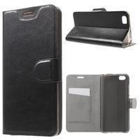 Horse peňaženkové puzdro pre mobil Xiaomi Mi5 - čierne - 1/7