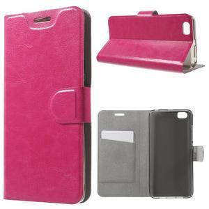 Horse peňaženkové puzdro pre mobil Xiaomi Mi5 - rose - 1