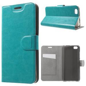 Horse peňaženkové puzdro pre mobil Xiaomi Mi5 - modré - 1