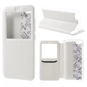 Cross peňaženkové puzdro s oknem na Xiaomi Mi5 - biele - 1